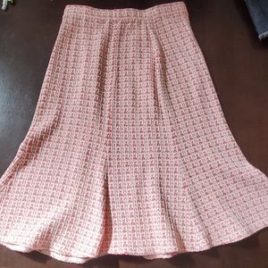 St John skirt pink & cream fit and flare Sz 2